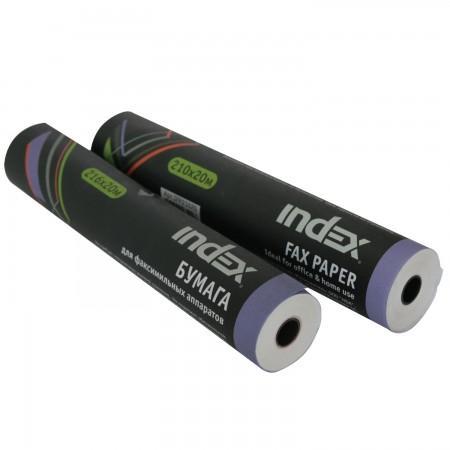 Термобумага для факса INDEX, разм. 210 мм х 20 м