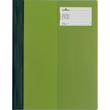 Папка-скоросшиватель для проектов с кармашком PROJECT FILE, цвет-зеленый