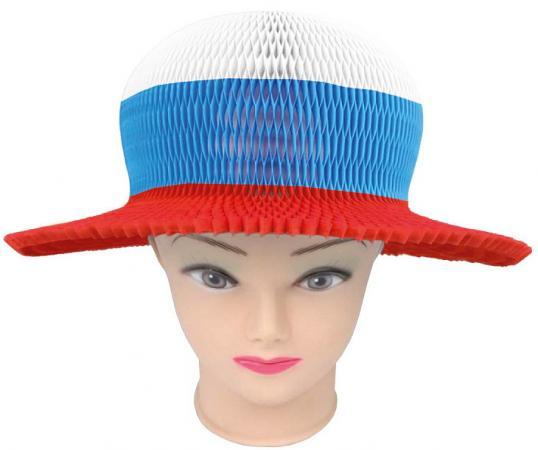 Шляпа бумажная Action Российский триколор