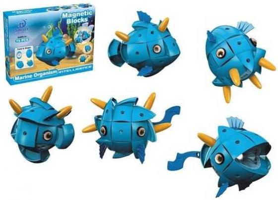 Магнитный конструктор Наша Игрушка Морские обитатели 75 элементов 303 игрушка