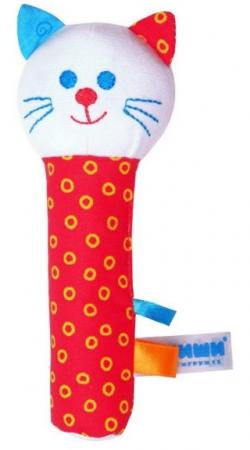 Мягкая игрушка кот МЯКИШИ Котик 17 см текстиль мякиши пирамидка с погремушкой котик мякиши