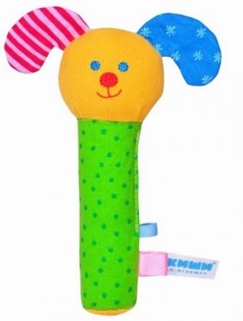 Мягкая игрушка собака МЯКИШИ Собачка 17 см текстиль мягкая игрушка погремушка мякиши собачка колечко цвет зеленый белый
