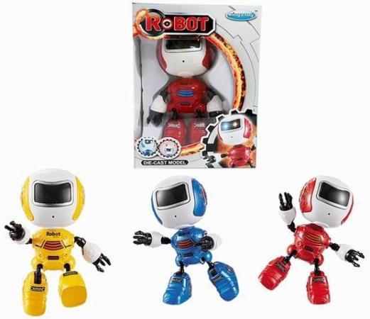 Интерактивный робот Наша Игрушка Косморобот 12 см со звуком светящийся Y22631002