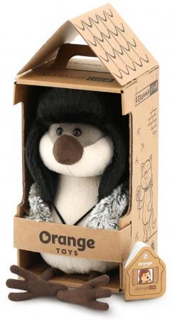 Мягкая игрушка воробей ORANGE Воробей Ушанка 20 см искусственный мех пластмасса наполнитель zdk q360 orange