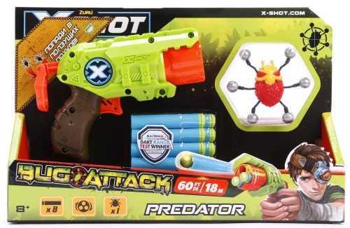 Бластер X-shot Атака Пауков зеленый коричневый красный 4815 игрушечное оружие zuru x shot ружье с мишенями атака пауков