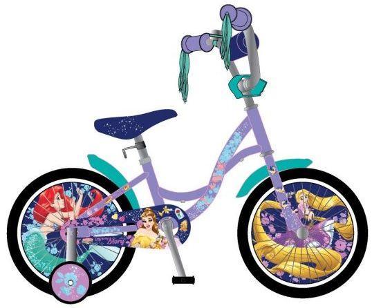 """Велосипед двухколёсный Навигатор Дисней 14д Принцессы 14"""" сиреневый ВН14165"""