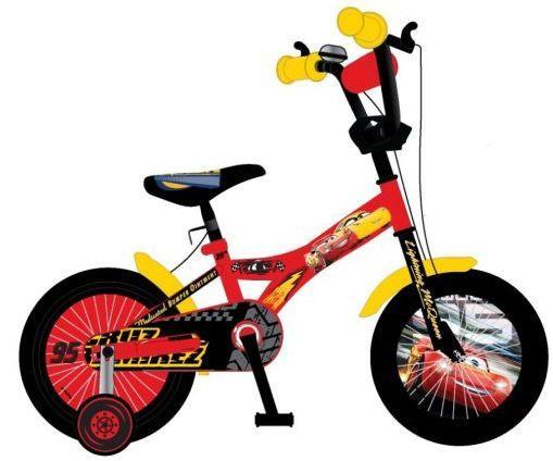 """Велосипед двухколёсный Навигатор Дисней 16д Тачки красный 16"""" красный ВН16123"""