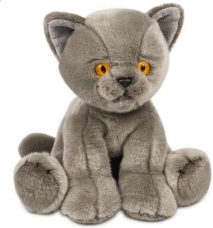 Мягкая игрушка котенок Макси тойз Котик 30 см серый искусственный мех пластмасса наполнитель цена