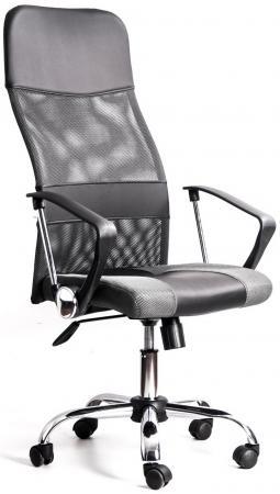 купить Кресло Recardo Smart (Черно-бежевый, сетка/кожа, высота 1180-1270мм, спинка 740мм, Ш500*Г490, крест 700мм, макс. 120кг, газлифт/качание/откидывание) GTPHCH1 W01\\T04 по цене 5160 рублей