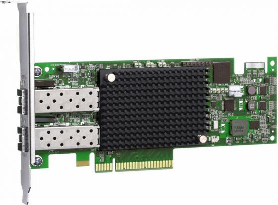 лучшая цена Адаптер Dell Emulex LPe16002B Dual Port 16Gb Fibre Channel HBA Full Height Cus Kit (406-BBGH)