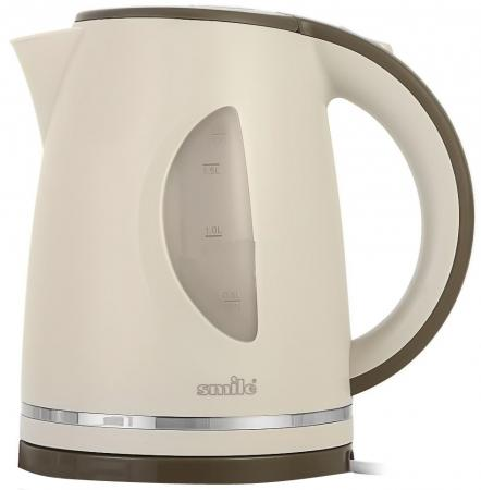Чайник Smile WK 5305, 2000Вт, 1.7л, пластик, бежевый электрический чайник smile wk 5305 wk 5305