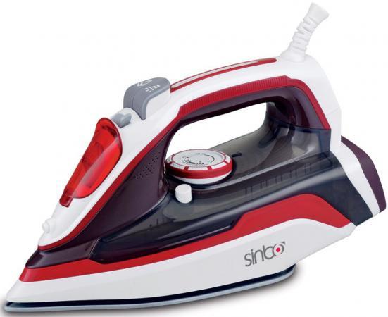 Утюг Sinbo SSI 2898, 2400Вт, подошва керамика, самоочистка, красный/белый