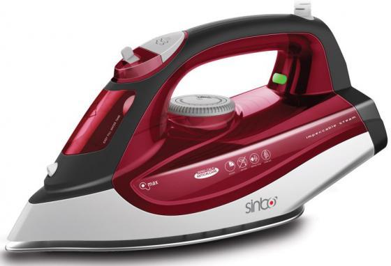 Утюг Sinbo SSI 6611, 2200Вт, подошва тефлон, автооткл, противокапля, красный/белый