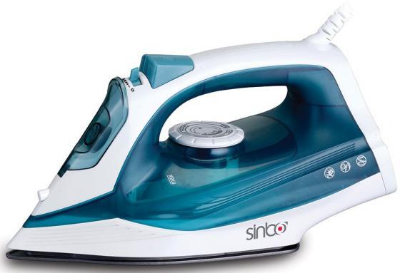 Утюг Sinbo SSI 6604, 2400Вт, подошва керамика, самооистка, противокапля, синий белый утюг sinbo ssi 6603 синий белый