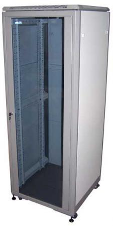 "лучшая цена Шкаф 19"" Eco, 21U 600x800, серый, дверь стекло, 600х800х1140 мм, 3 части TWT-CBE-21U-6x8"