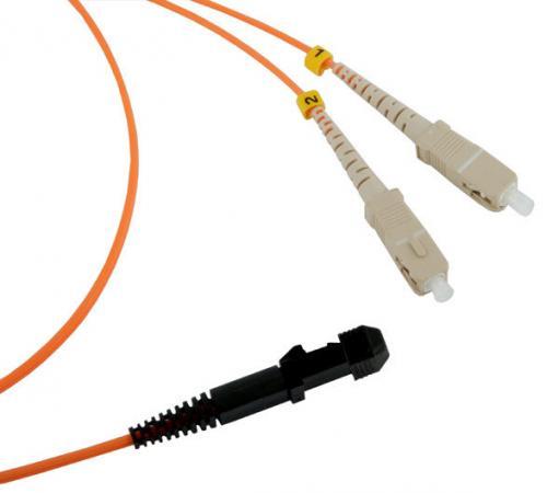 Шнур оптический MTRJ(f)-SC, duplex, 62.5/125, 1m, LANMASTER шнур оптический mtrj f st duplex 62 5 125 1m lanmaster