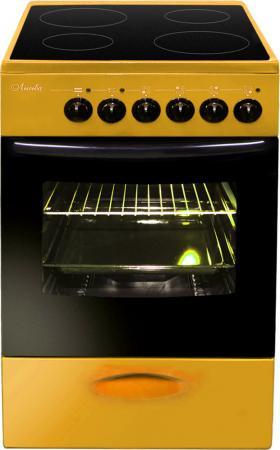 Плита Электрическая Лысьва ЭПС 411 МС желтый стеклокерамика электроплита лысьва эпс 411 мс чёрная