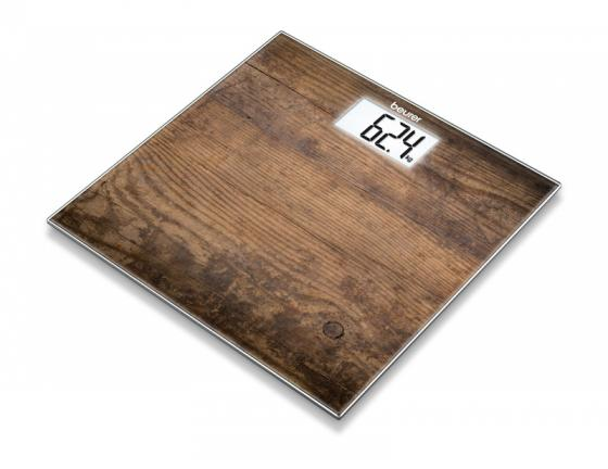 Весы напольные электронные Beurer GS203 макс.150кг рисунок/дерево настольная лампа ideal lux kate 2 tl1 round