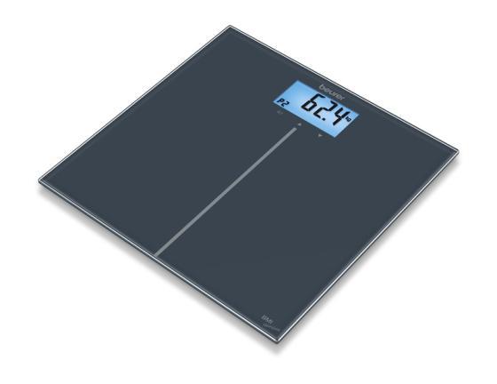 Весы напольные Beurer GS280 BMI чёрный 757.31