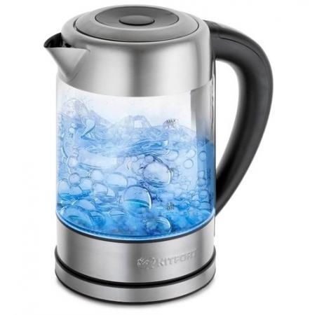 Чайник KITFORT КТ-624 2200 Вт серебристый 1.7 л металл/стекло чайник kitfort кт 628 2200 вт прозрачный 1 7 л металл стекло