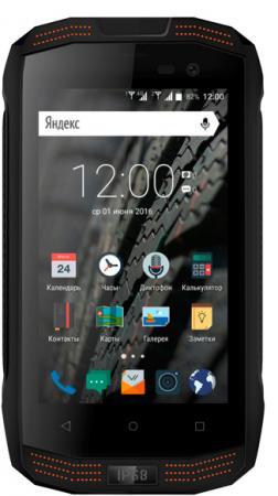 Смартфон Vertex Impress Action черный оранжевый 4 8 Гб LTE Wi-Fi GPS 3G ACTN-BO смартфон vertex impress novo графит 5 8 гб wi fi gps 3g vnvogrp