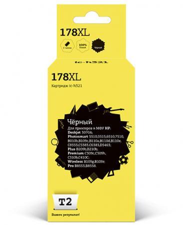 Картридж T2 IC-H321 №178XL (аналог CB321/CN68) для HP Deskjet 3070A/Photosmart 6510/7510/B110/C8583, черный, с чипом cn642a for hp 178 364 564 564xl 4 colors printhead for hp 5510 5511 5512 5514 5515 b209a b210a c309a c310a 3070a b8550 d7560