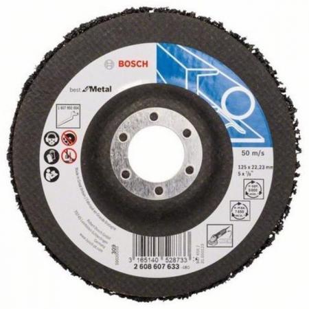 Bosch 2608607633 1 ЗАЧИСТНОЙ КРУГ 125мм B.f.Metal круг зачистной мет 150х25х32 14a