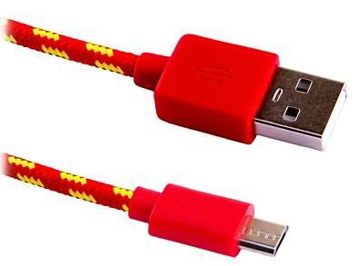 Кабель microUSB 2м Blast BMC-122 круглый красный 40036 кабель usb blast bmc 122 красный 2м micro usb usb 2 0