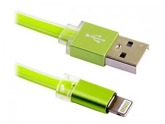 Кабель USB Blast BMC-211 зеленый (1м, iPhone/iPad/iPod. USB 2.0) 5000mah solar powered mobile power w dual usb for iphone ipad more silver