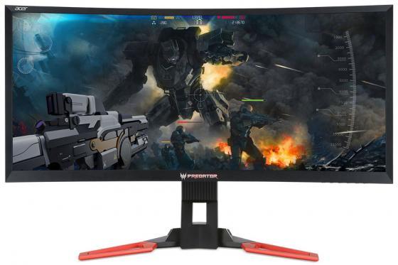 Монитор 35 Acer Predator Z35P черный красный VA 3440x1440 300 cd/m^2 4 ms HDMI DisplayPort USB UM.CZ1EE.P01 монитор жк acer predator z301ctbmiphzx 3d 29 5 черный [um cz1ee t01]