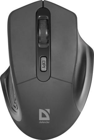 Defender Datum MB-345 черный [52345] {Беспроводная оптическая мышь, 4 кнопки, 800-1600 dpi}