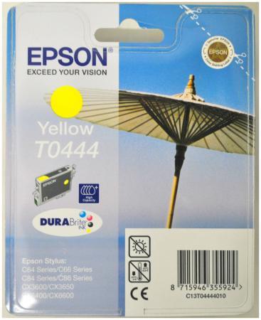 Картридж EPSON T0444 желтый для C84/C86/CX6400/CX6600 картридж epson t009402 для epson st photo 900 1270 1290 color 2 pack