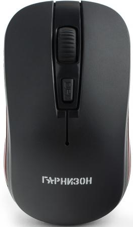 Гарнизон Мышь беспров. GMW-420, чип X2, черный, 1600 DPI, 3 кн.+ колесо-кнопка, блистер мышь беспров gembird musw 400 g бело золотой бесшумный клик 3кн колесо кнопка 2 4ггц 1600 dpi блистер