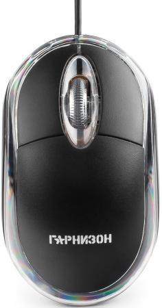 Мышь проводная Гарнизон GM-100 чёрный USB мышь гарнизон gm 740g black