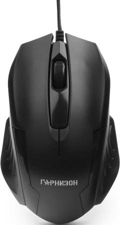 Купить Гарнизон Мышь GM-110, USB, чип- Х, черный, 800 DPI, 2кн.+колесо-кнопка, Мышь проводная, чёрный