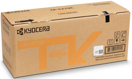 Тонер-картридж TK-5270Y 6 000 стр. Yellow для M6230cidn/M6630cidn/P6230cdn тонер картридж kyocera mita tk 675