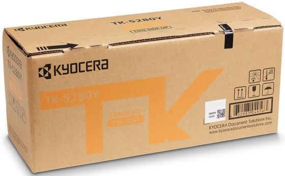 Тонер-картридж TK-5280Y 11 000 стр. Yellow для M6235cidn/M6635cidn/P6235cdn тонер картридж kyocera mita tk 3100