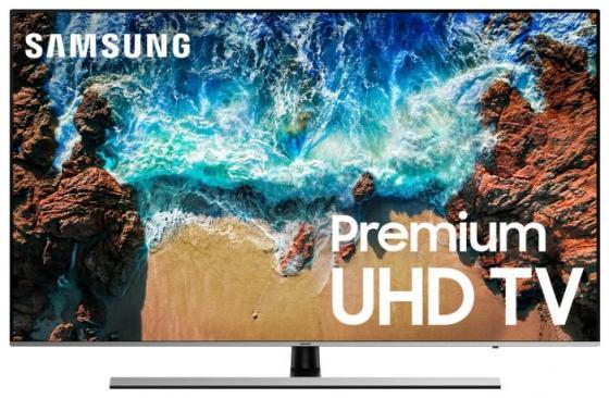 "Телевизор 65"" Samsung UE65NU8000UXRU черный серебристый 3840x2160 100 Гц Wi-Fi Smart TV RJ-45 Bluetooth телевизор samsung ue65ks7500 65 дюймов smart tv suhd изогнутый"