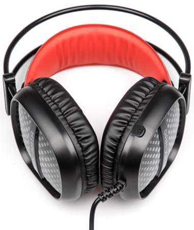 Игровая гарнитура проводная Dialog HGK-20L Gan-Kata черный красный