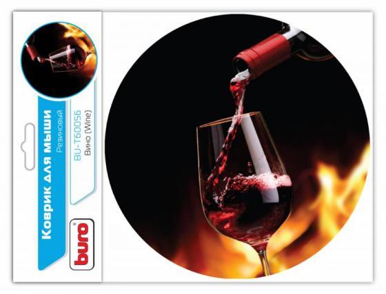 Коврик для мыши Buro BU-T60056 рисунок/вино [350572] коврик для мыши buro bu m80041 рисунок венеция