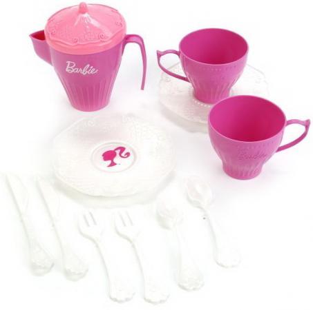 Набор чайной посудки Нордпласт Барби пластик игровой набор для девочки нордпласт чайная посудка барби 636