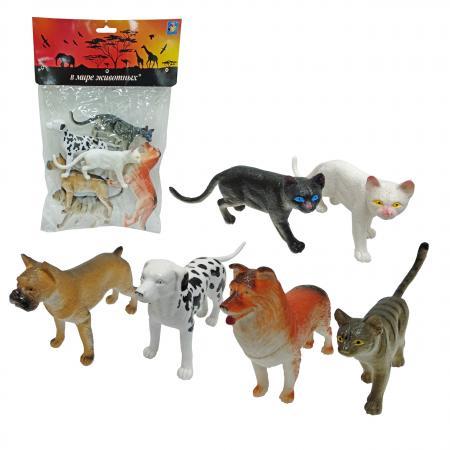 Набор фигурок 1Toy В мире животных - Собаки и Кошки 15 см 1toy в мире животных наб игр животных 6 шт х 15 см в упаковке пвх с хедером