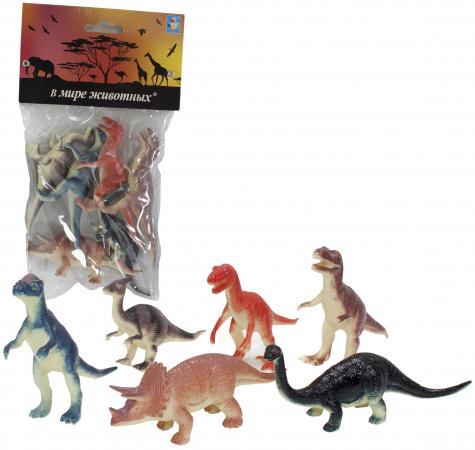 Набор фигурок 1Toy В мире животных - Динозавры 10 см 1toy в мире животных наб игр животных 6 шт х 15 см в упаковке пвх с хедером