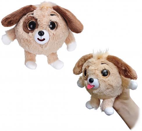 Мягкая игрушка собака 1toy Дразнюка-Zoo 13 см коричневый плюш 1toyмягкая озвученная игрушка дразнюка zoo лисичка 13 см