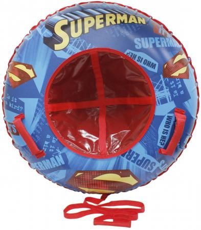 Тюбинг 1toy Супермен ПВХ разноцветный 1toy тюбинг супермен 100 см