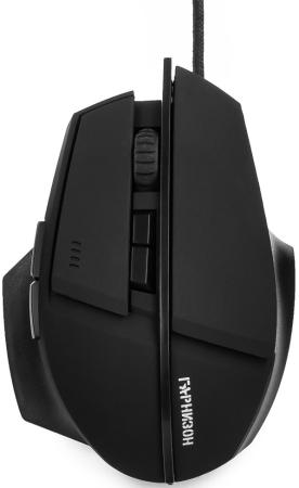 Гарнизон Мышь игровая GM-740G, Альтаир, код Survarium, USB, чип Х3, черн., софт тач, 2400 DPI, 6кн мышь гарнизон gm 740g black