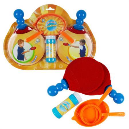 1toy Пинг-Понг Прыгунцы, 2 ракетки, 2 венчика, лоток, бут.50мл, блистер