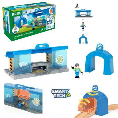 Набор Brio Вагоноремонтная мастерска синий 33918 механический перкресток brio