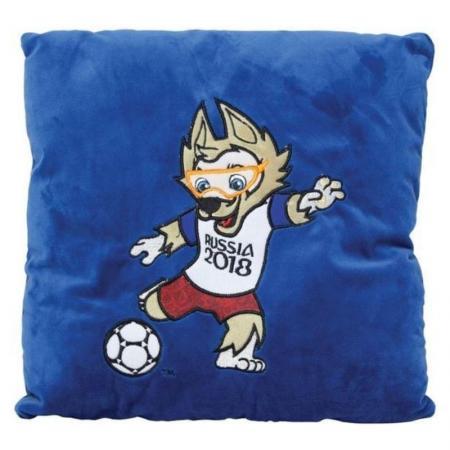 Подушка подушка FIFA подушка с аппликацией Kicking 30 см синий плюш наполнитель
