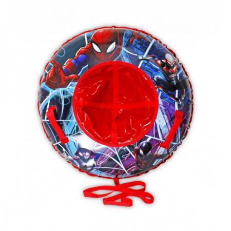 Marvel Человек-Паук, тюбинг - надувные сани,резин.автокамера, материал глянцевый пвх 500 гр/кв.м.,85см,букс.трос,цветн.кор. тюбинг belon тент спираль аквапарк 85см